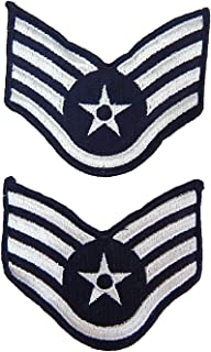 US Air Force Staff Sergeant Chevron Insignia Large Full Color, 2 Pack