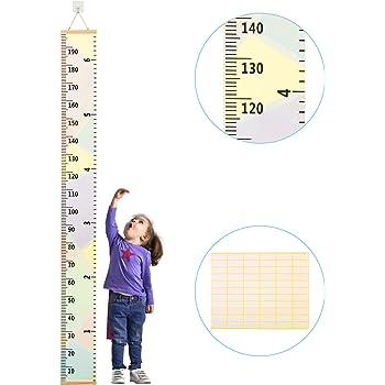 200,7/x 20,1/cm toile Hauteur R/ègle de mesure pour d/écoration de salle de chambre denfant Smileupon b/éb/é Toise murale /à suspendre R/ègle pour enfants