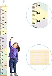 Kids Height Chart ZoomSky Baby Growth Chart Removable Roll Up Hanging Measurement Ruler Wall Decor for Height Record Children's Room Nursery