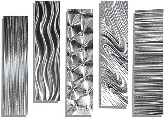 Statements2000 Silver Metal Wall Art Decor, Set of Five 24