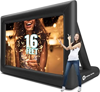Inflatable Movie Screen Outdoor – Screens for Christmas Movies Outside – Mega Blow Up Rear Projection – Just Set Up Your P...