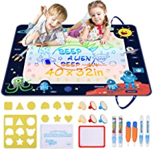 Doodle Mat Extra Large, Space Aqua Magic Mat, Double Sided Water Drawing Mat 40 x 32 Inch with 20 Accessories, Educational...