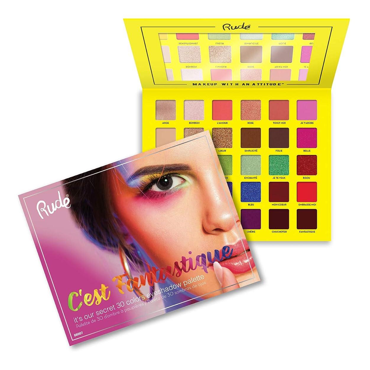 クスクス長方形浮浪者(3 Pack) RUDE C'est Fantastique - 30 Eyeshadow Palette (並行輸入品)