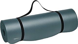 Amazonベーシック ヨガマット トレーニングマット エクササイズマット キャリーストラップ付 極厚 188×61×1cm