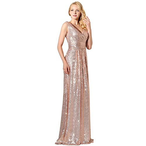 dc307ebb83 Rose Gold Sequin Dress: Amazon.co.uk