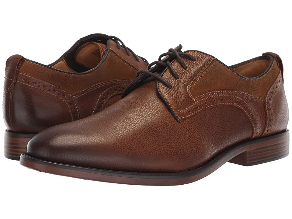 Dockers Henson (Dark Tan/Tan Soft Milled Polished Full Grain/Waxed Suede) Men