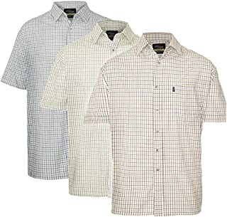 Champion Mens Tattersall Short Sleeve Shirt (Pack of 3)