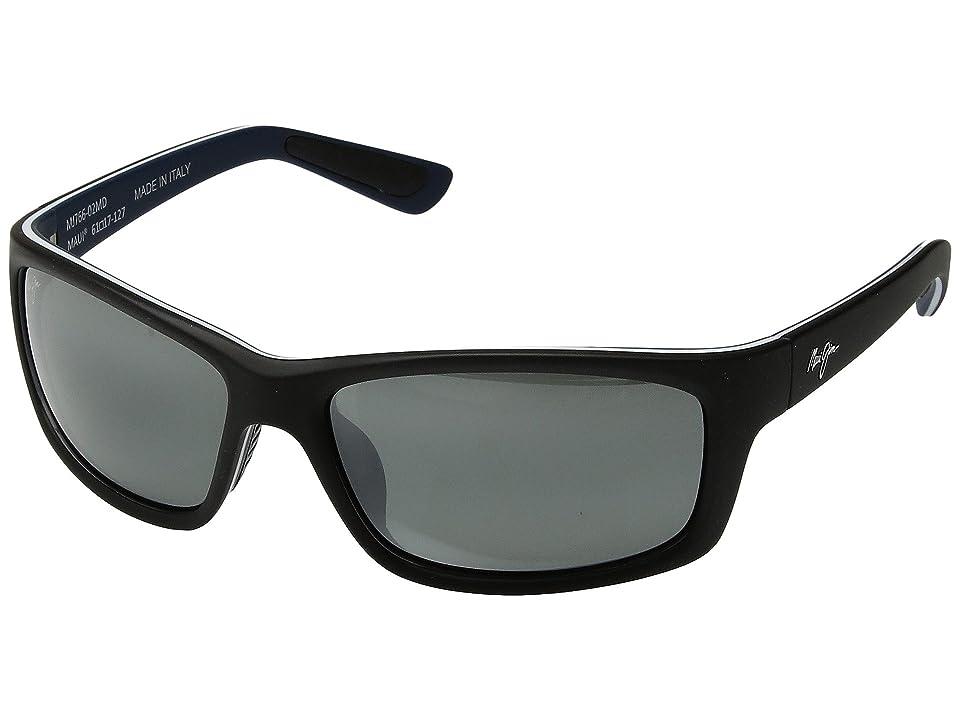 Maui Jim Kanaio Coast (Matte Black/White Blue/Neutral Grey) Athletic Performance Sport Sunglasses