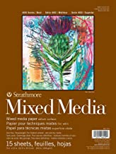 """Strathmore 400 Series Mixed Media Pad, 9""""x12"""" Glue Bound, 15 Sheets"""