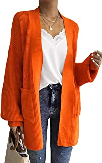 0c7a4bc826775 ECOWISH Womens Color Block Striped Draped Kimono Cardigan with Pockets Long  Sleeve Open Front Casual Knit
