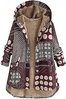 Sturrly🌻Women's Winter Warm Coat Hooded Parkas Overcoat Fleece Outwear Jacket with Drawstring