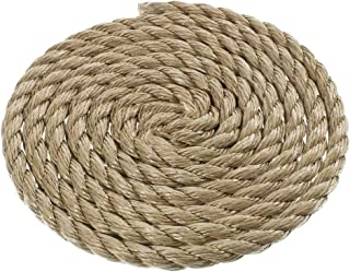 3/4 Inch Diameter ProManila (UnManila) Polypro Rope – Available in Lengths of 10, 25, 50, 100 Feet