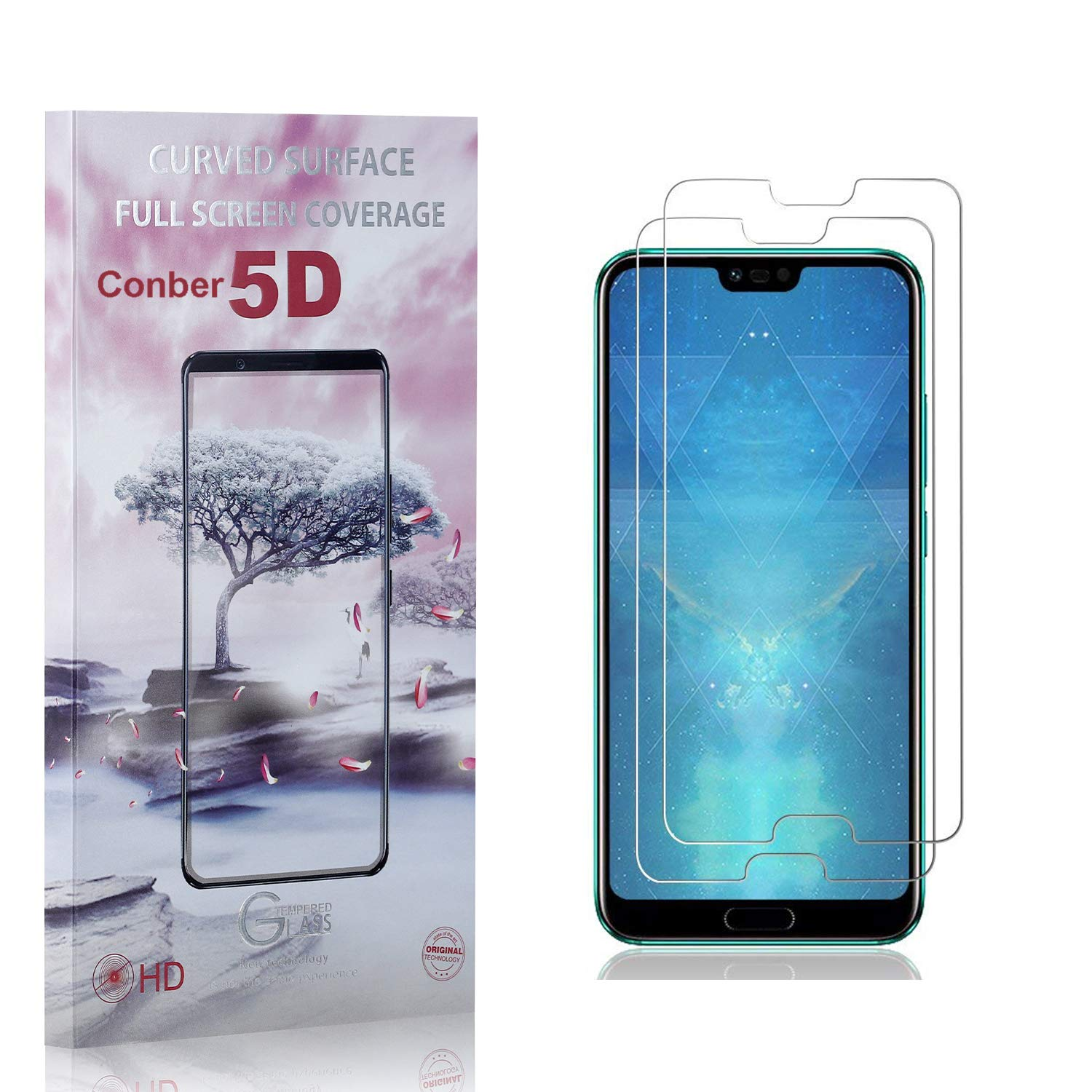 shipfree 35% OFF Conber 2 Pack Screen Protector Anti-Shat for 10 Huawei Honor