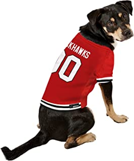 Pets First NHL Chicago Blackhawks A Premium Big Jersey for Dogs & Cats, Red, XX-Large