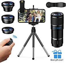Phone Camera Lens, Vorida 6-in-1 Photography Lens Kit,14X...