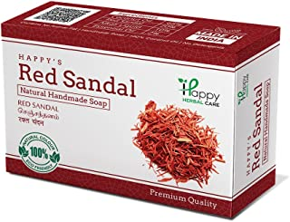 Happy Herbal Care Red Sandal Natural Soap, 75 g