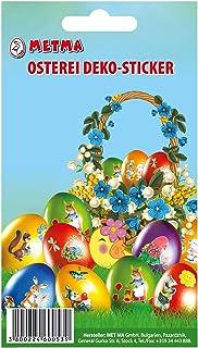 Metma 115 – Autocollants pour œufs imprimés, Motifs, Pâques, Multicolore