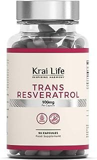 Trans-Resveratrol 100 mg. hochdosiertes Resveratrol aus japanischem Staudenknöterich. Polygonum cuspidatum | 90 vegane Kapseln | Antioxidantische Wirkung | Vegan. glutenfrei. ohne GVO