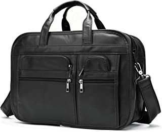 mens distressed leather briefcase
