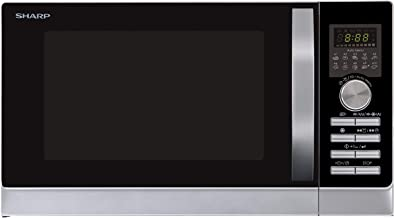 Sharp R-843 INW Plata microonda con Grill y Aire Caliente