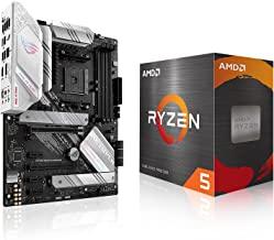 Micro Center AMD Ryzen 5 5600X پردازنده دسکتاپ 6 هسته ای 12 رشته ای تا 4.6 گیگاهرتز با قفل Wraith Stealth Cooler Bundle با ASUS ROG Strix B550-A AMD AM4 Zen 3 Ryzen 5000 ATX Gaming Motherboard
