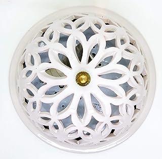 Plafoniera da Parete o Soffitto Traforata Bianca comprensiva di Parti Elettriche Pronta da montare Ceramica Realizzato e D...
