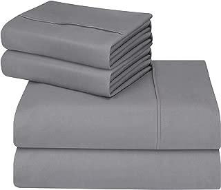 Utopia Bedding - Juego Sábanas de Cama - Microfibra Cepillada - Sábanas y Fundas de Almohada - (Cama 150, Gris)