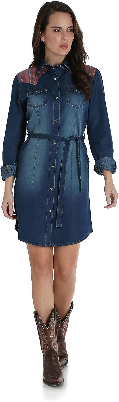 Wrangler Western Denim Shirt Dress