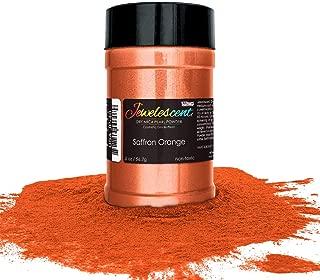U.S. Art Supply Jewelescent Saffron Orange Mica Pearl Powder Pigment, 2 oz (57g) Shaker Bottle - Cosmetic Grade, Non-Toxic Metallic Color Dye - Paint, Epoxy, Resin, Soap, Slime Making, Makeup, Art