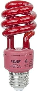 Sunlite SM13/R 13-watt Spiral Energy Saving Compact Fluorescent CFL Light Bulb (40-Watt Incandescent Equivalent), Medium Base, Red