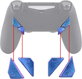 Purple Blue Chameleon Glossy Replacement Redesigned Back Buttons K1 K2 K3 K4 Paddles for eXtremeRate PS4 Controller Dawn Remap Kit