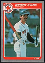 Baseball MLB 1985 Fleer #158 Dwight Evans Red Sox