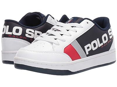 Polo Ralph Lauren Kids Belden (Big Kid) (White Tumbled/Navy/Red Nylon/Silver Reflective) Boy