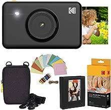 Kodak Mini Shot Instant Camera (Black) Deluxe Bundle + Paper (20 Sheets) + Deluxe Case + Photo Album + Hanging Frames