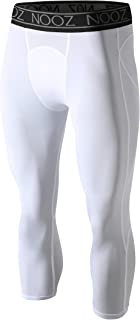 Nooz All-Season Men's Cool Dry 3/4 Capri Baselayer Compression Pants/Sports Tights/Leggings