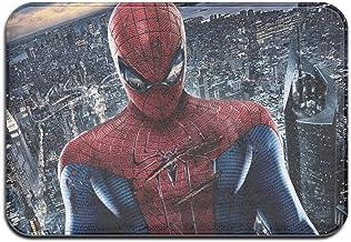 Large Puzzle Spiderman Tapis de bain en caoutchouc antidérapant pour sol de douche, salon et buanderie, 61 x 40,6 cm