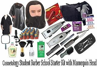 Cosmetology Student Barber School Starter Kit w/ Mannequin Head