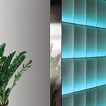 Perfil Fin de 8 cm bloques de vidrio de espesor (2,5 m, acero inoxidable brillante)