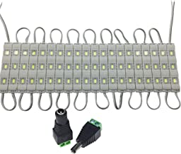 Texsbowe 12V 5730 SMD 3 LED Module Lights Waterproof Decorative Lighting Lamp,Natural White, 60-Pack