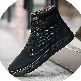 Mens Shoes Casual Faux Suede High Top Designer Sneakers Men Vintage British Big Size Fashion Spring