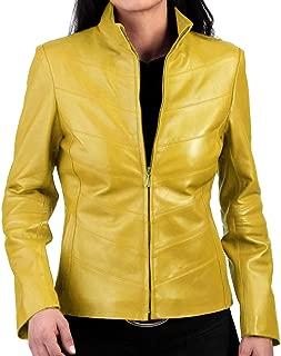 SKINOUTFIT Womens Leather Jacket Stylish Motorcycle Biker Genuine Lambskin 54