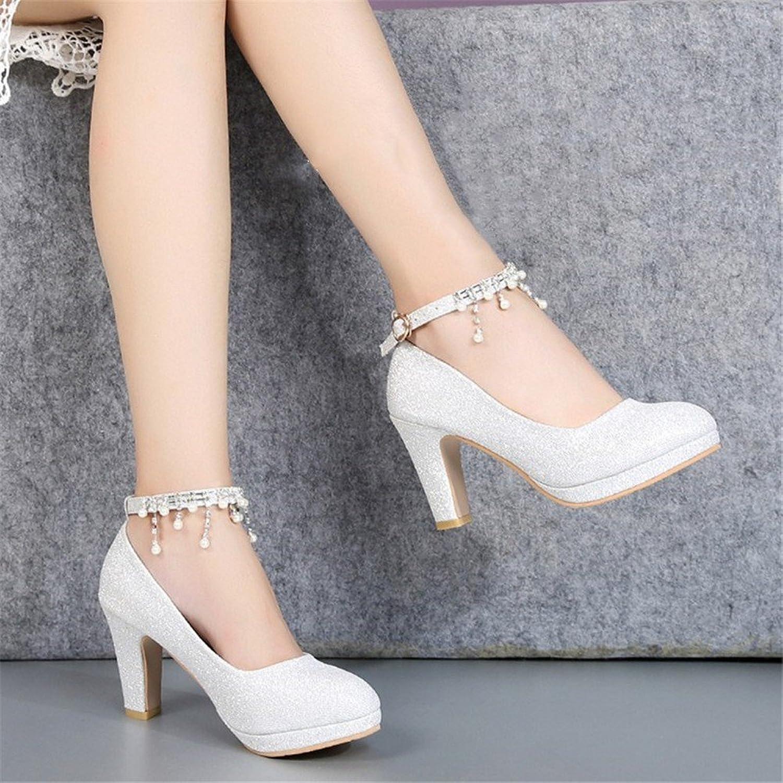 HXVU56546 Frühling Und Herbst Neue Lady Crystal Schuhe Mit Braut Schuhe High Heels  | Mangelware