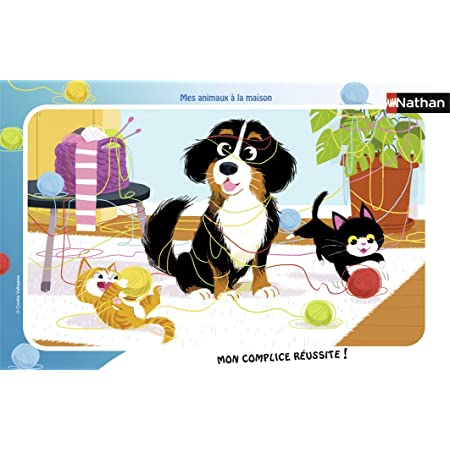 Nathan- Puzzle Cadre Mes Animaux à la Maison 15 pièces, 86126