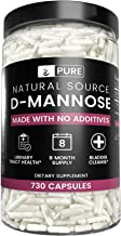 Pure Natural D-Mannose (730 Capsules) Fast-Acting, Potent & Gluten-Free (1500 mg Serving)