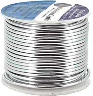 Mandala Crafts Anodized Aluminum Wire for Sculpting, Armature, Jewelry Making, Gem Metal Wrap, Garden, Colored and Soft, 1 Roll(12 Gauge, Silver)