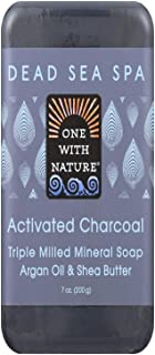 One With Nature Soap Bar Activated Charcoal, 7 oz