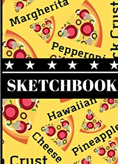 Sketchbook: Pizza Name Style Word Print Art Gift - Sketchbook Drawing Pad for Teens, Students, and Kids