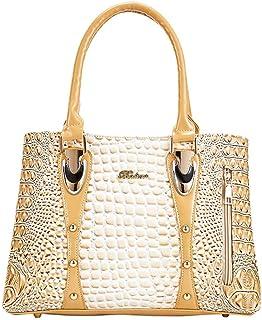 GSERA Damen Taschen Designer Umhängetasche Frauen Reißverschluss Lackleder Einkaufstasche Große Kapazität Handtaschen