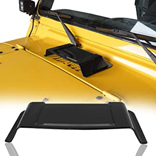 Black Hood Cowl Heater Air Vent Scoop for 1997-2018 Jeep Wrangler TJ JK & Unlimited