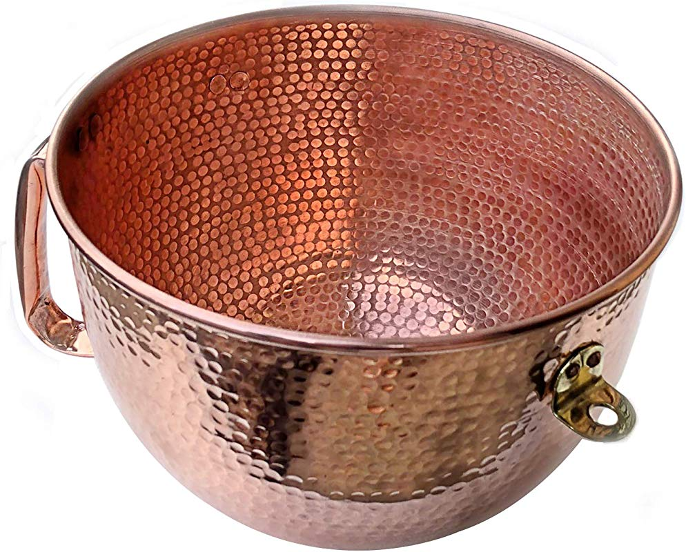 6 Qt Replacement Copper Mixing Bowl In Solid Copper For Kitchenaid Mixer